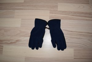 Guanto in pile blu scuro-nero Poliestere