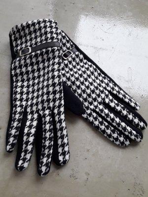 Handschuhe schwarz weiß