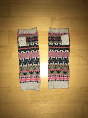 Six Knitted Gloves multicolored