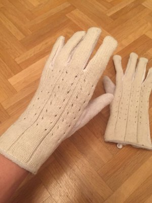 Gloves natural white