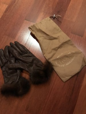 SIlvio Tossi Handschoenen zwart bruin-bruin