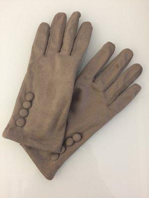 Handschuhe, Velouroptik, Orsay