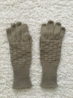 Knitted Gloves beige-grey brown