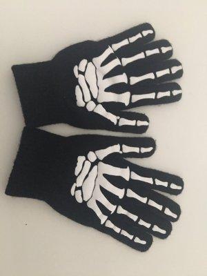 H&M Guantes con dedos negro-blanco