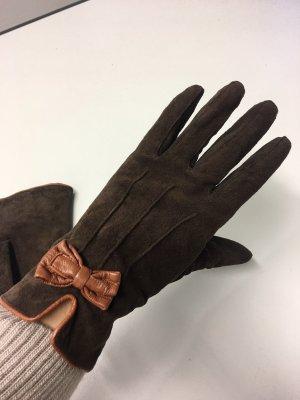 Promod Guanto in pelle marrone-marrone scuro