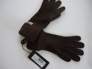 Roeckl Knitted Gloves grey brown-taupe wool