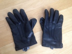 TCM Gloves black leather