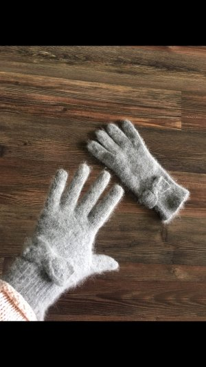 Guanto in maglia grigio chiaro