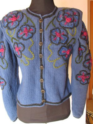 Traditional Jacket cornflower blue wool