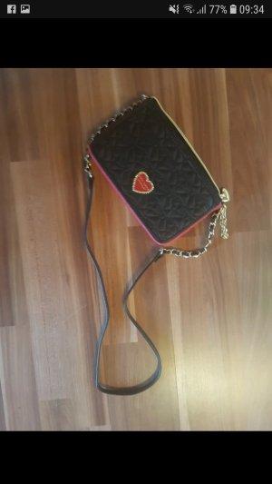 Betsey Johnson Sac porté épaule noir-rouge framboise