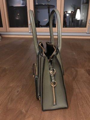 H&M Sac de cadre de vélo vert foncé faux cuir