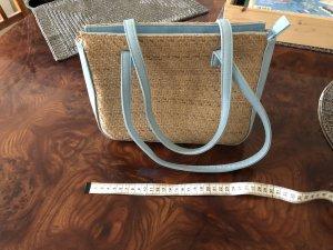 Basket Bag oatmeal-baby blue