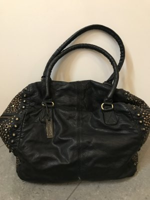 Handbag black leather