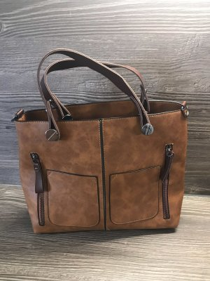 Shopper dark brown-light brown