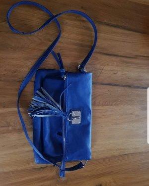 Bolso de flecos azul