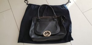Armani Jeans Handbag black-gold-colored
