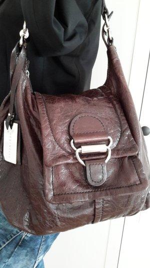 Handtasche aus dickem Leder von Coccinelle in dunklem braun