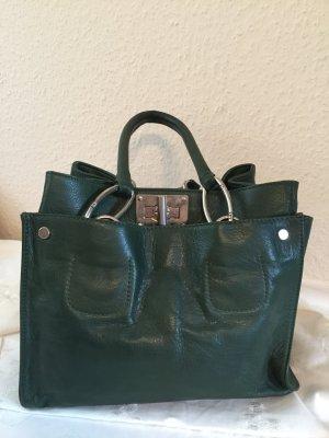Handtasche aus dickem weichen Leder, made in Italy