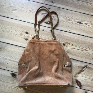 Handtasche aus echtem Wildleder