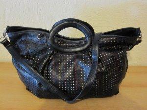 Handtasche aus Kunstleder, Lochmuster