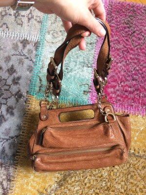Handtasche aus Leder, René Lezard