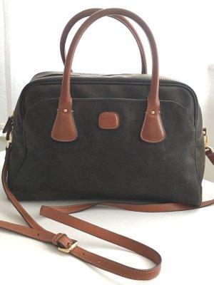 Handtasche aus Leder von BRIC'S, Farbe Olivgrün
