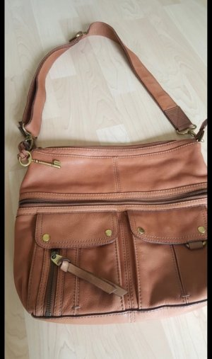 Fossil Crossbody bag cognac-coloured leather
