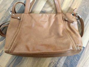 Handtasche aus Leder von Funbag, mit Henkeln und Tragegurt