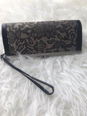 Handtasche beige / Clutch beige schwarz