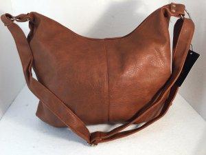 Handtasche Beuteltasche Umhängetasche braun XL Groß