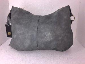 Handtasche Beuteltasche Umhängetasche Grau XL Groß