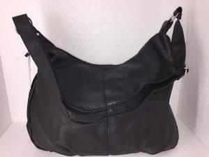 Handtasche Beuteltasche Umhängetasche schwarz XL Groß