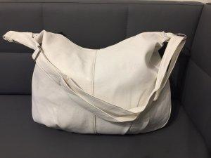 Handtasche Beuteltasche Umhängetasche weiß XL Groß