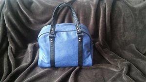 Handtasche blau/grau