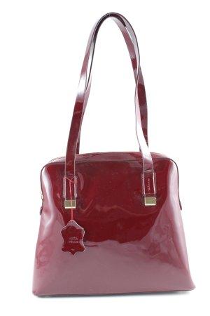 Handtasche bordeauxrot Glanz-Optik