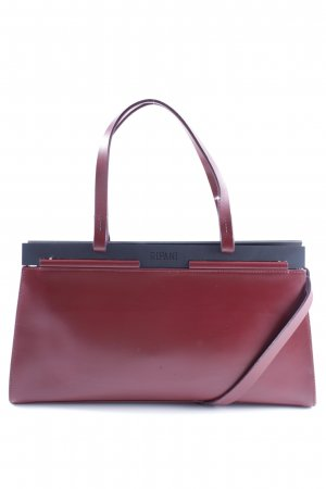 Handtasche bordeauxrot-schwarz Casual-Look