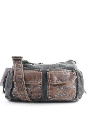 Handbag brown-dark grey street-fashion look