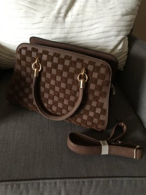Handtasche braun/gold