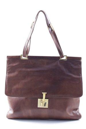 Handtasche braun schlichter Stil