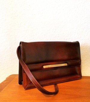 Handtasche braunes Leder Vintage Made in Spain Rockabilly Vicosta