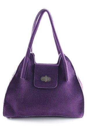 Handtasche braunviolett Casual-Look