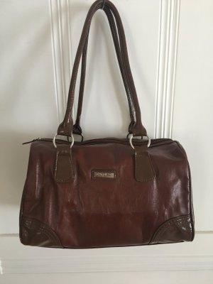 Carpisa Handbag brown imitation leather