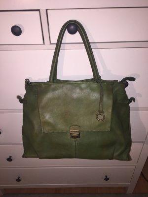 Handtasche Caterina Lucchi dunkelgrün Tasche Shopper