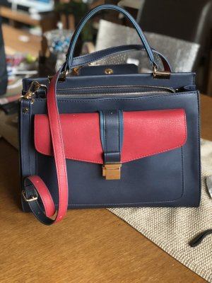 Accessorize Handtas blauw-bordeaux
