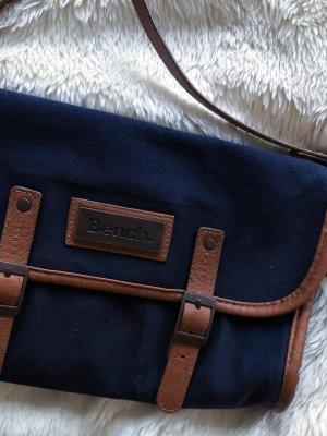 Handtasche Clutch Bench blau braun