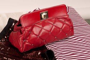 Handtasche|Clutch in Rot von Tosca Blu