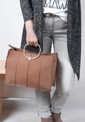 Handtasche Cognac Braunrot - Neu
