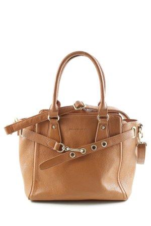 Handbag cognac-coloured casual look