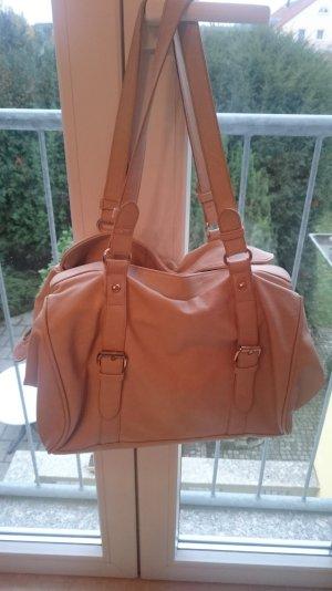 Handtasche, creme, gold