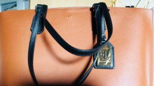 Handtasche Damen Damentasche braun Ralp Lauren neu NP 189€